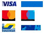 Visa, Master Card, Paypal, American Express, Maestro, Bancontact